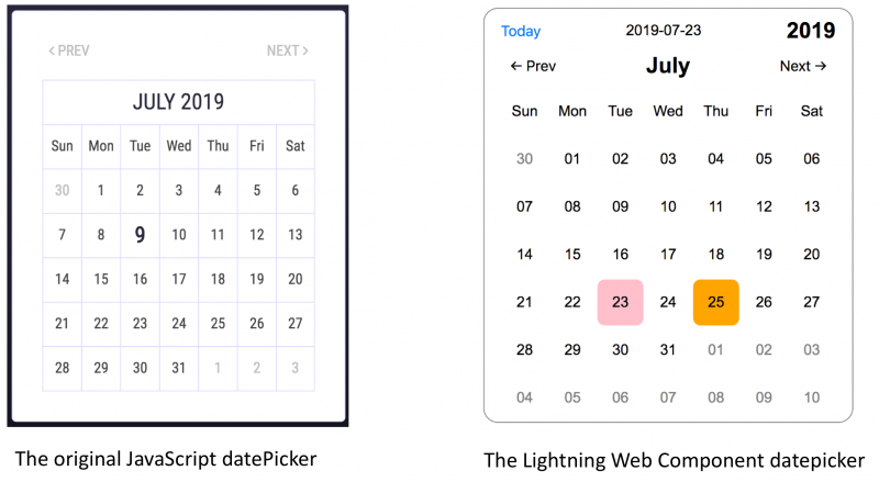Convert a JavaScript Datepicker to a Lightning Web Component