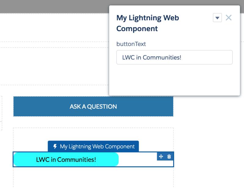 Lightning Web Components in Lightning Communities