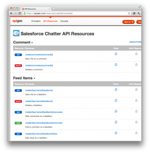 Chatter REST API & the Apigee Console | Developer Force Blog