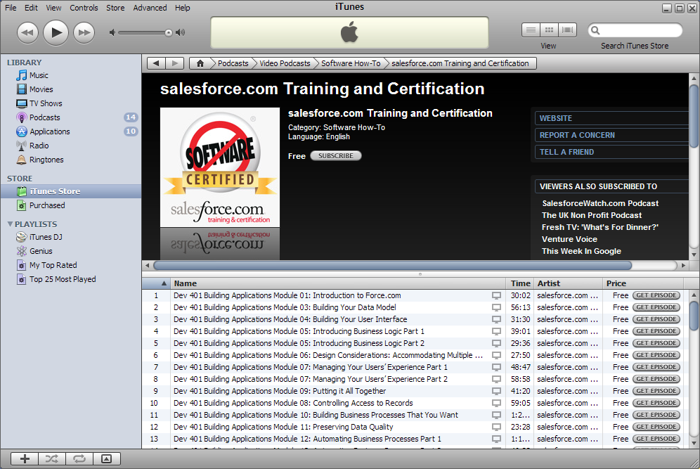 Watch Force com Developer Courses on iTunes! | Developer Force Blog