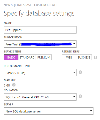 Accessing a SQL Server Azure Database with Lightning Connect