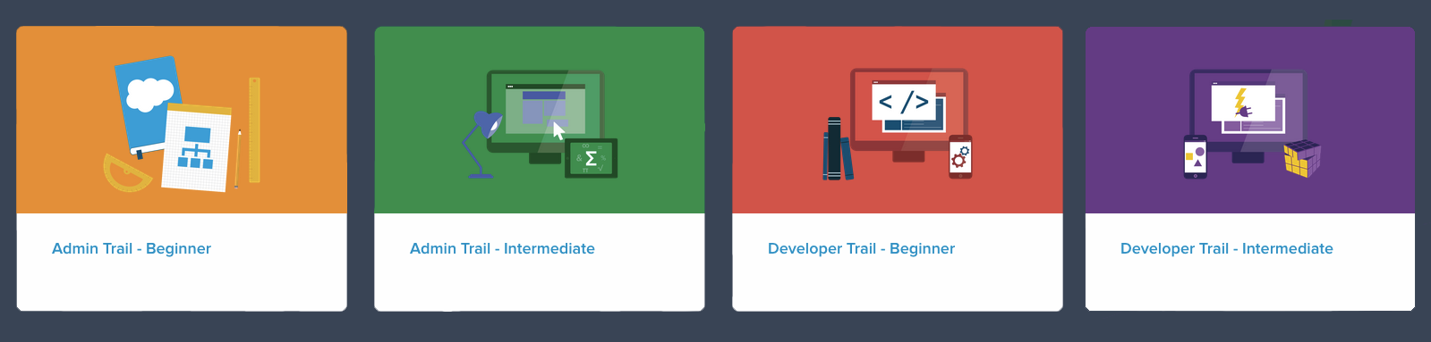 Learn Salesforce with Trailhead: new trails and content!